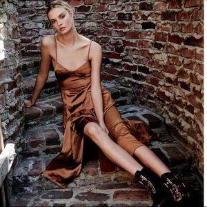 Fame & Partners X Free People Gold Dea Dress